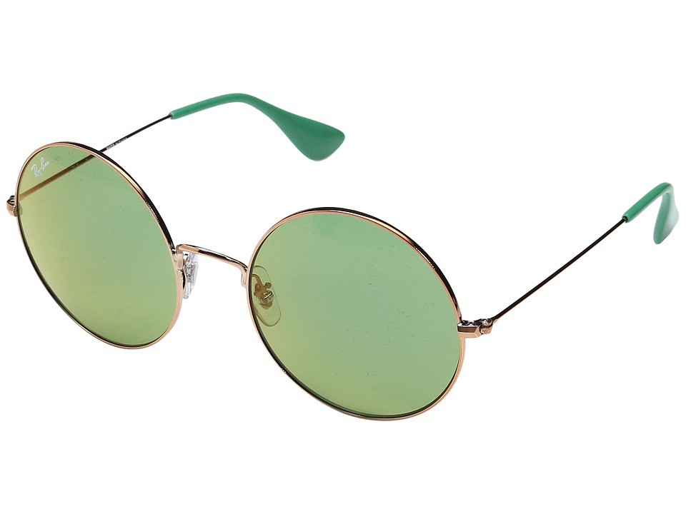Ray-Ban 0RB3592 55mm (Shiny Copper Frame/Green Mirror Red Lens) Fashion Sunglasses