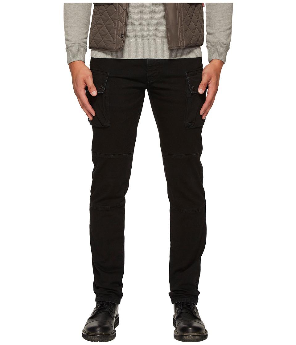 BELSTAFF - Westward Tapered Garment Dyed Denim with Cargo Pockets in Black