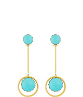 Tory Burch - Linear Stone Statement Earrings