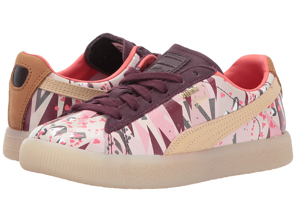 Puma Kids Clyde Moon Desert Naturel (Little Kid/Big Kid) (Winetasting/Natural Vachetta) Girl's Shoes