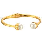 Tory Burch - Logo Crystal Pearl Hinged Bracelet