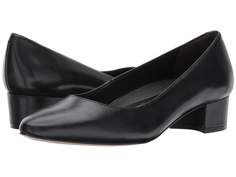 Walking Cradles Heidi (Black Leather) 1-2 inch heel Shoes