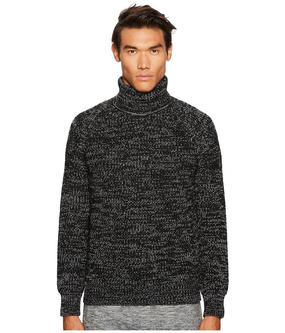 BELSTAFF Barnsted Wool Mouline Funnel Neck Sweater (Black/Winter White) Men