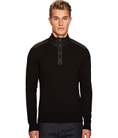 BELSTAFF - Kilmington Merino Wool Paneled 1/2 Zip Sweater