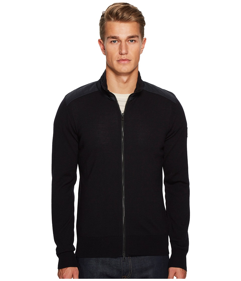 Belstaff Kelby Fine Gauge Merino Full Zip Sweater (Dark N...