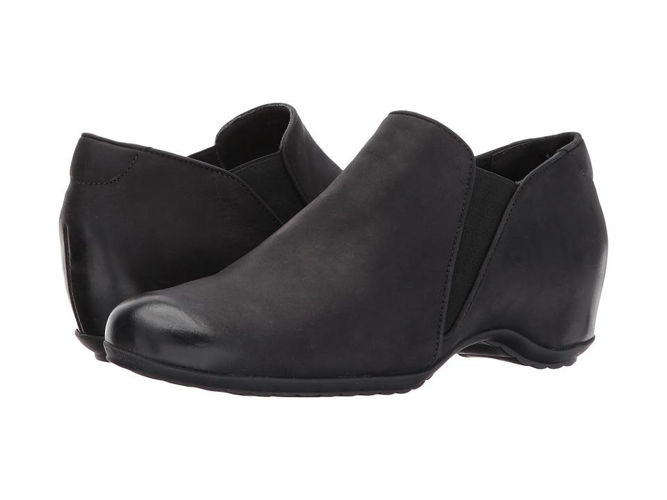 Walking Cradles Keaton (Black Distressed Burnished Leather) Women