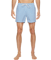 Lacoste - Taffeta Gingham Swim Short Length