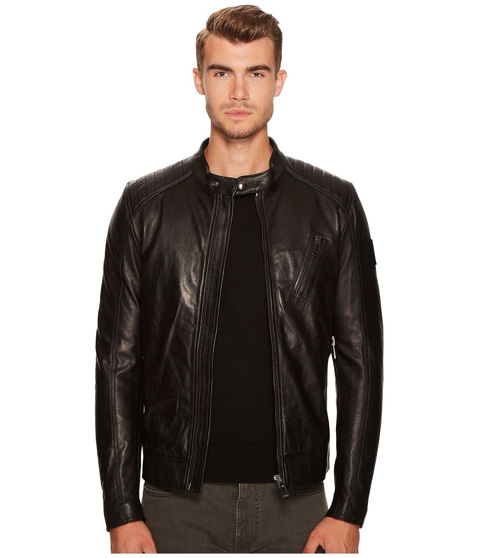BELSTAFF - V Racer New Tumbled Leather Jacket