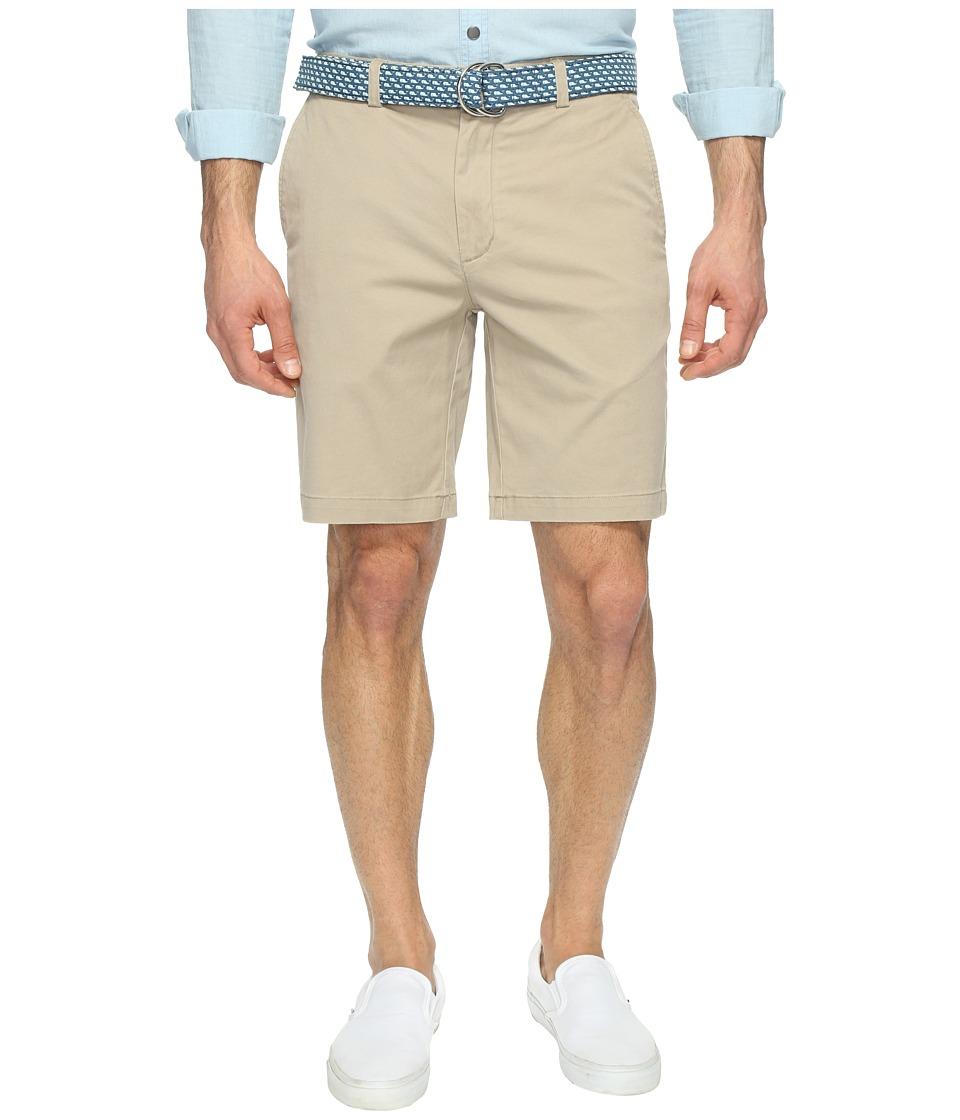 Vineyard Vines 9 Stretch Breaker Shorts (Khaki) Men