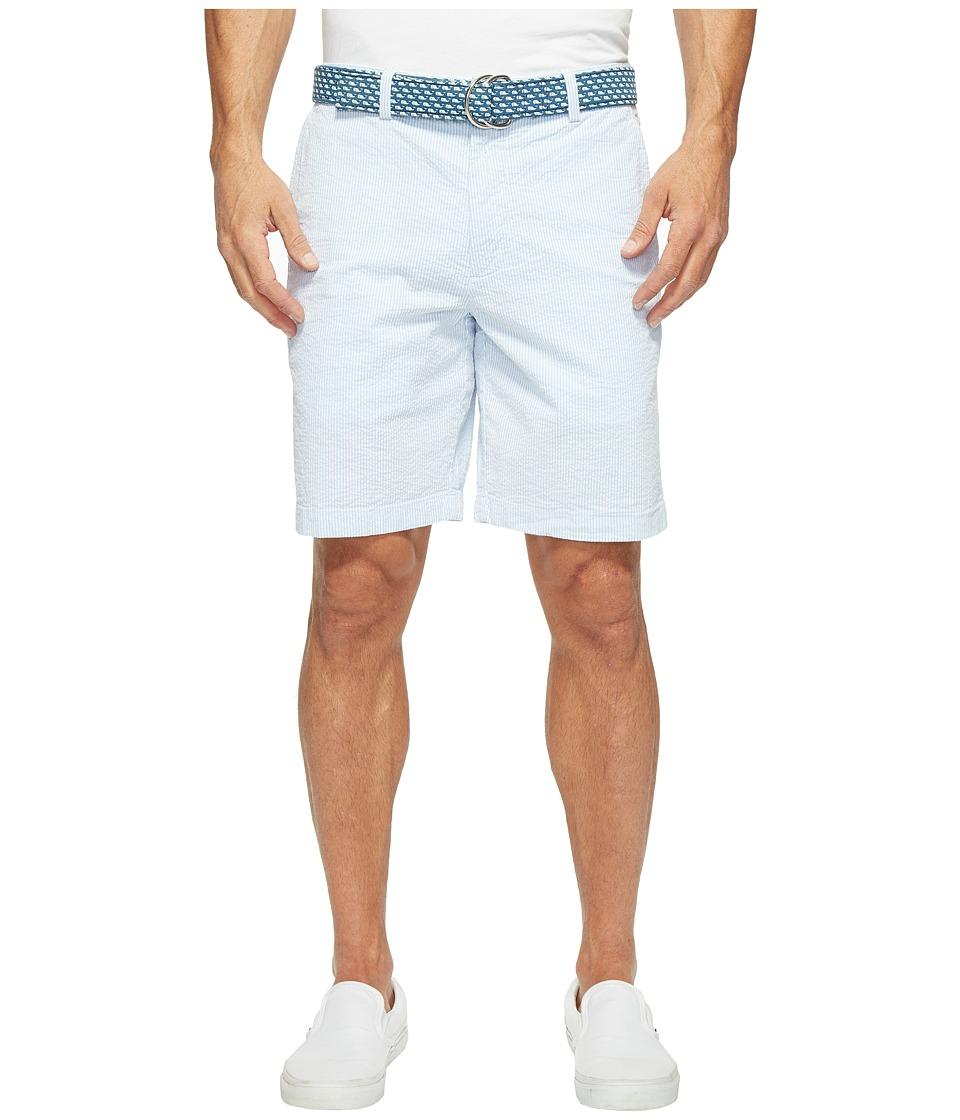 Vineyard Vines 9 Seersucker Breaker Shorts (Ocean Breeze) Men