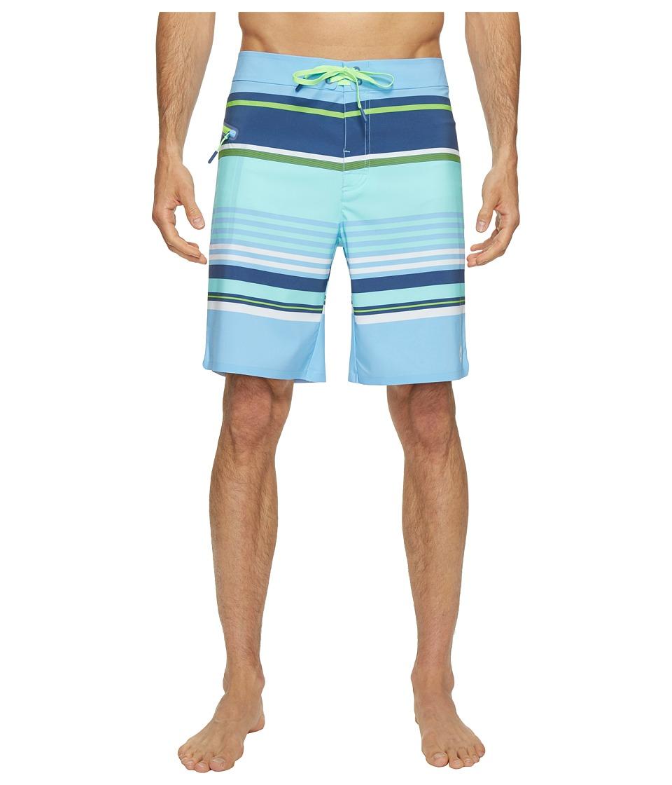 Vineyard Vines Tidal Stripe Boardshorts (Moonshine) Men
