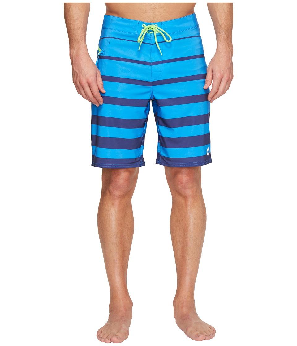 Vineyard Vines Breakwater Stripe Boardshorts (Azure Blue) Men