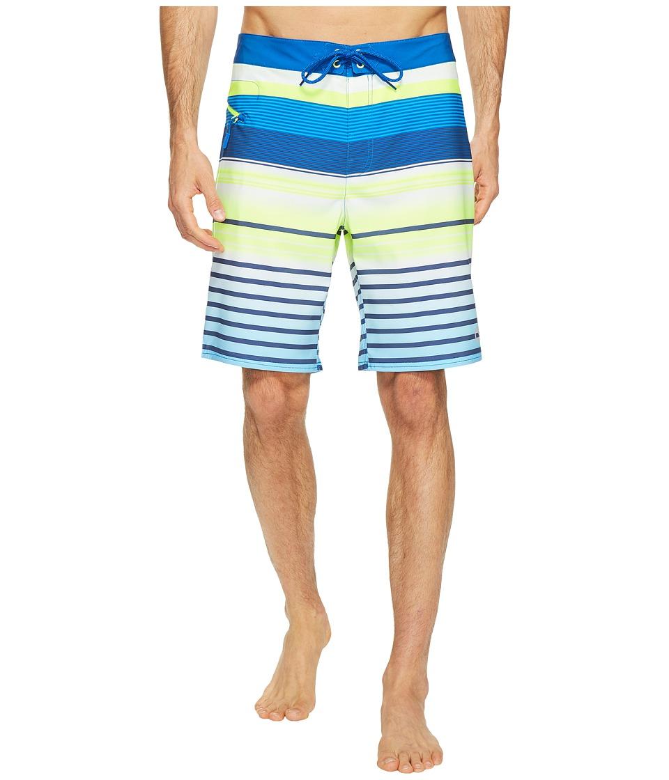 Vineyard Vines Neon Stripe Boardshorts (Yacht Blue) Men