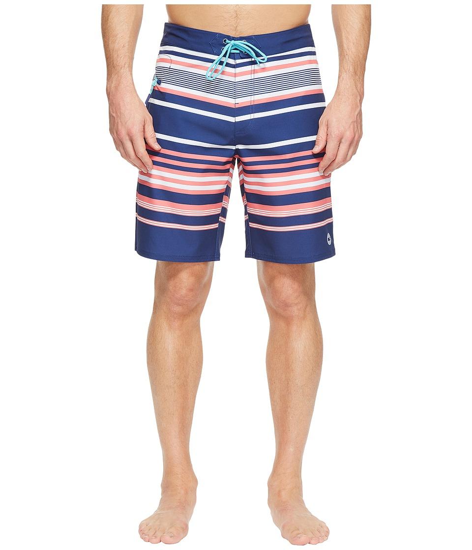 Vineyard Vines Americana Stripe Boardshorts (Deep Cobalt) Men