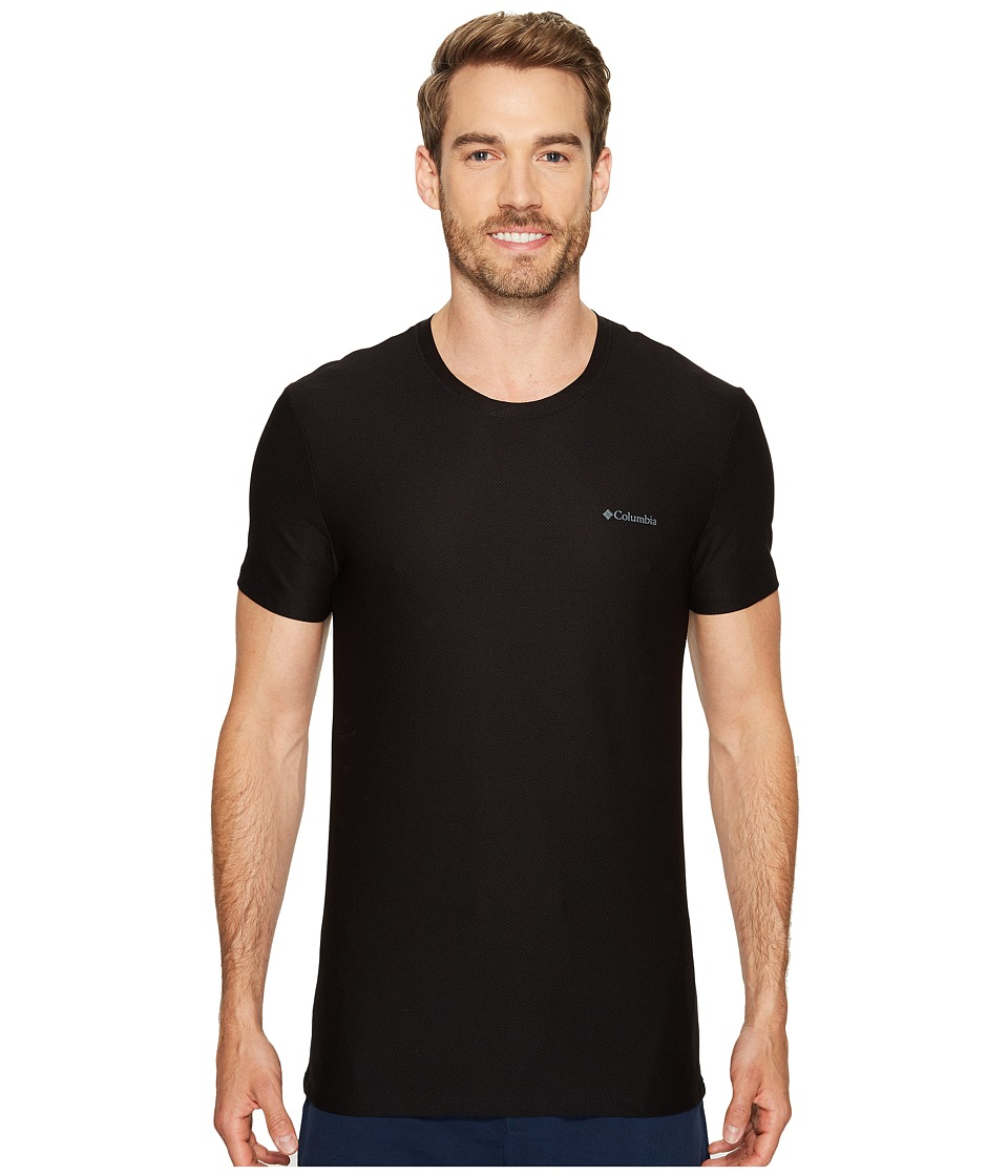 Columbia Diamond Mesh Crew Neck Tee Single (Black) Men