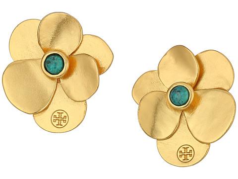 Tory Burch Flower Petal Stud Earrings