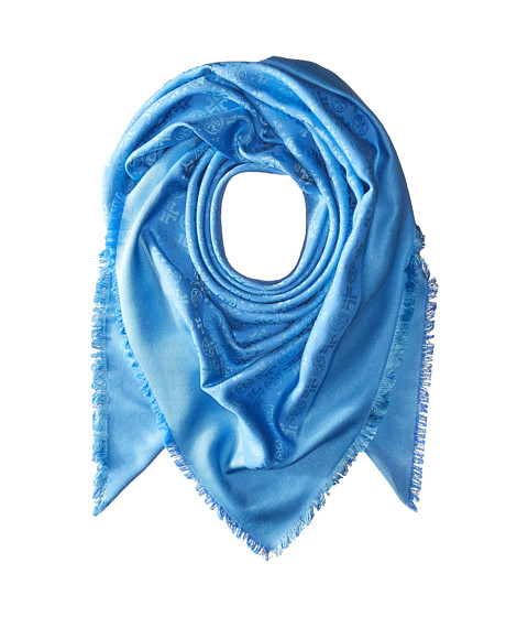 Tory Burch Traveler Oversized Square Scarf - Grand Marina/Coastline