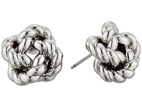 Tory Burch Rope Knot Stud Earrings - Tory Silver