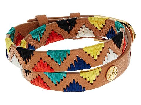 Tory Burch Raffia Double Wrap Bracelet