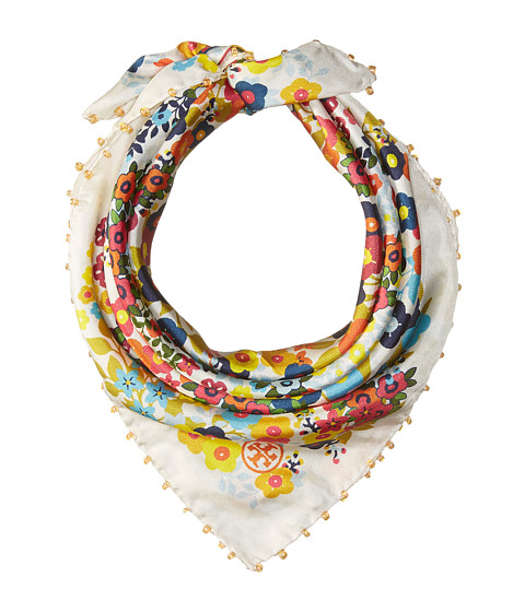 Tory Burch Floral Neckerchief - White/Multi