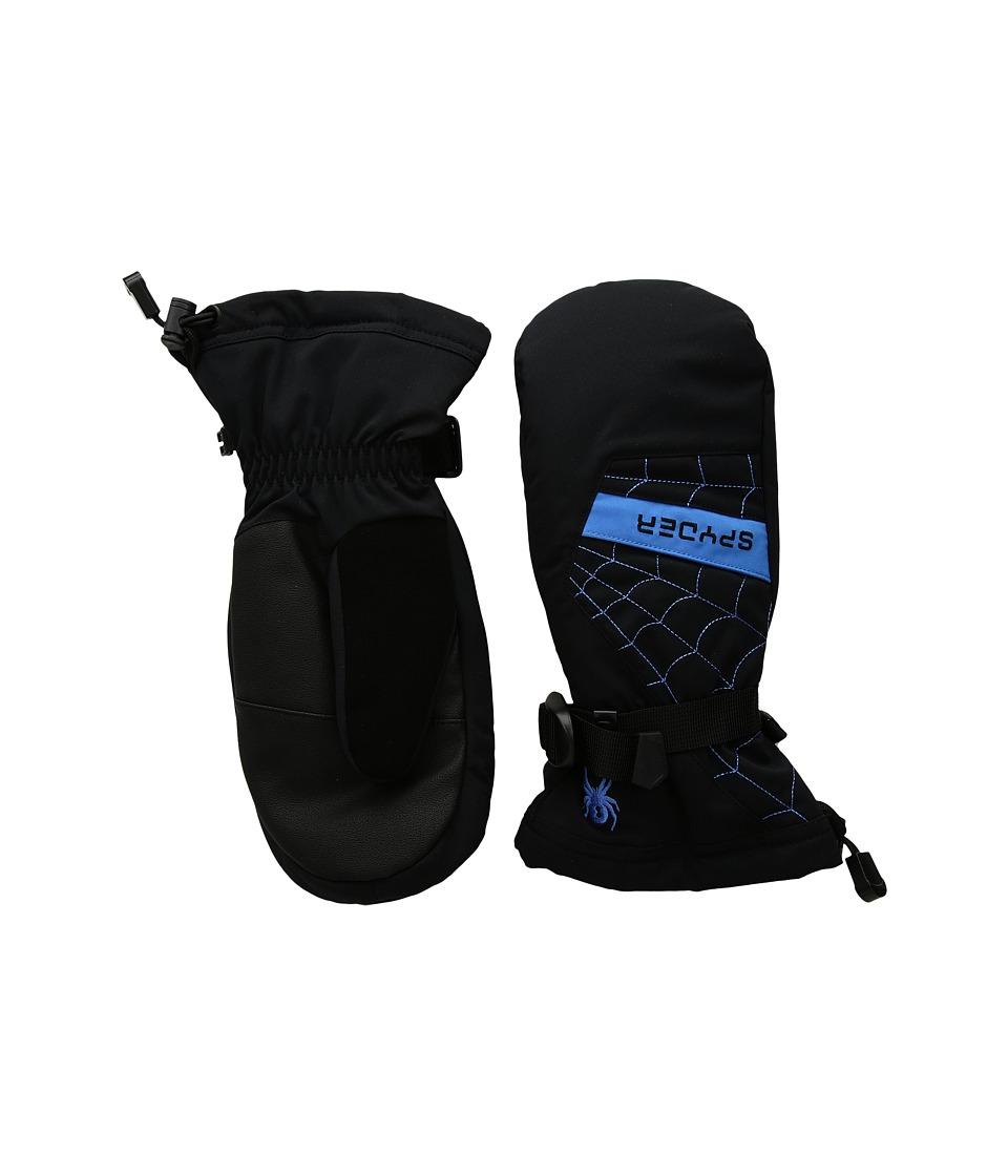 Spyder Overweb Ski Mitten (Big Kids) (Black/French Blue) Ski Gloves