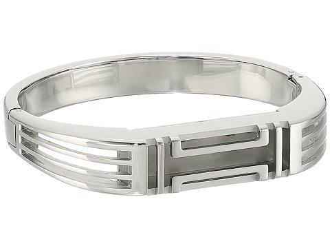 Tory Burch Fitbit Metal Hinged Bracelet - Tory Silver