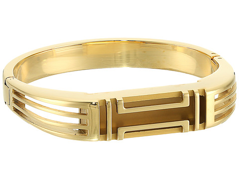 Tory Burch Fitbit Metal Hinged Bracelet - Gold/Gold
