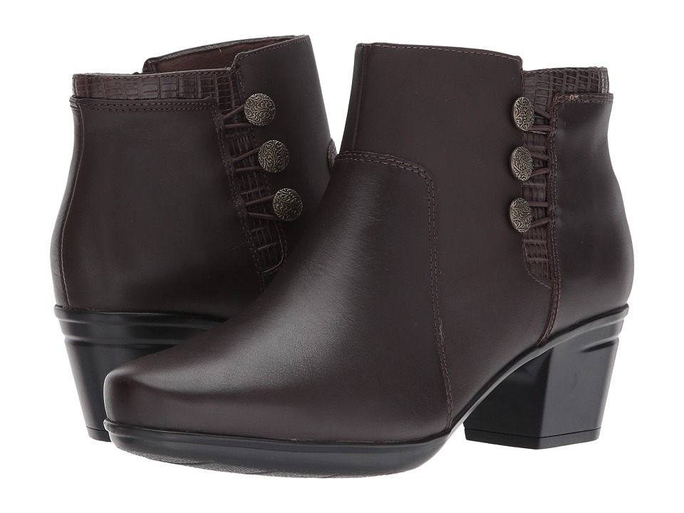 Clarks Emslie Monet (Dark Brown Leather) Women