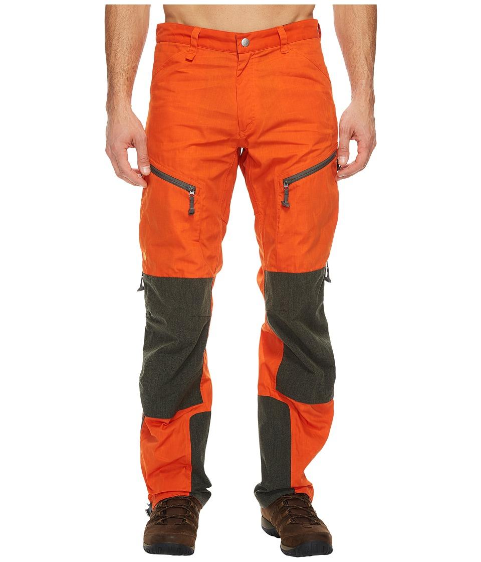 Fjallraven - Bergtagen Trousers (Hokkaido Orange) Mens Outerwear