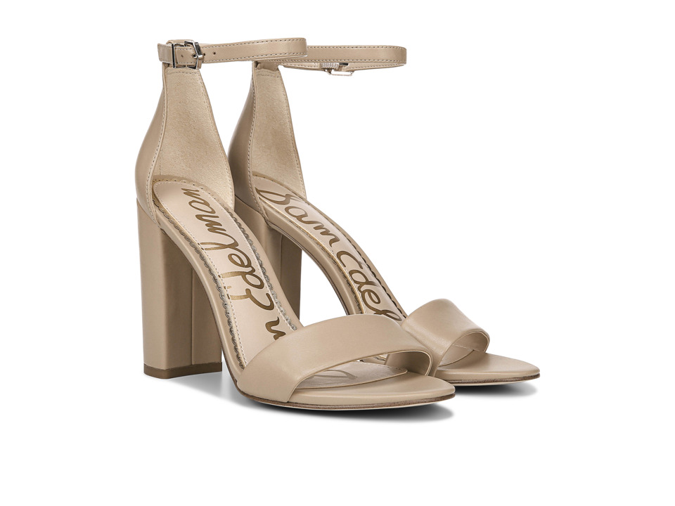 Sam Edelman Yaro Ankle Strap Sandal Heel (Classic Nude Leather) Women's Dress Sandals