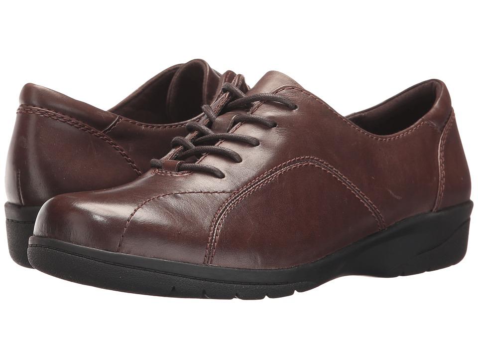 Clarks Cheyn Ava (Dark Brown Leather) Women's Shoes