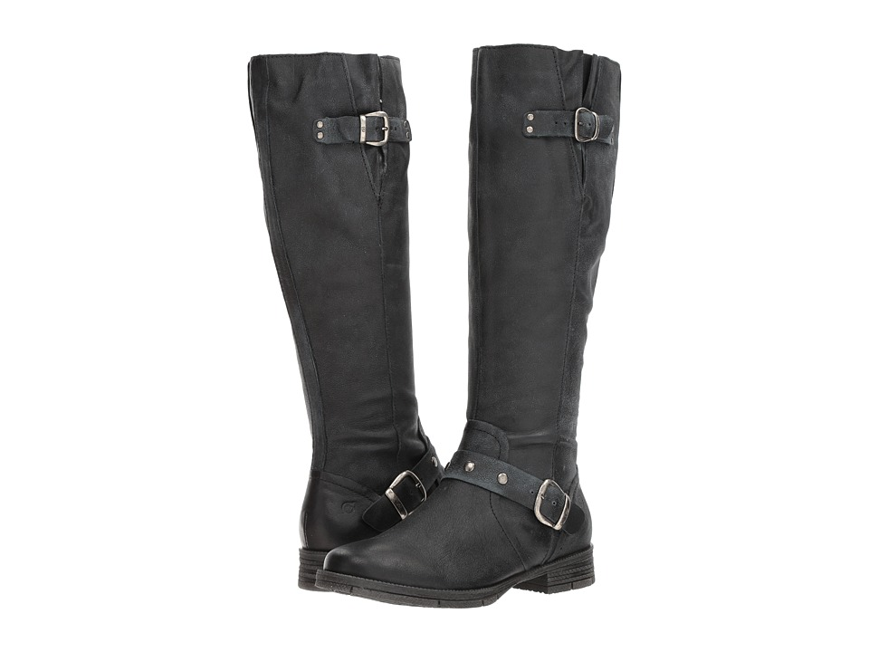 Born Ashland (Black Full Grain) Women's Dress Pull-on Boots