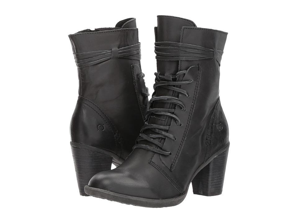 Vintage Style Shoes, Vintage Inspired Shoes Born - Cirque Black Full Grain Womens Dress Lace-up Boots $149.95 AT vintagedancer.com
