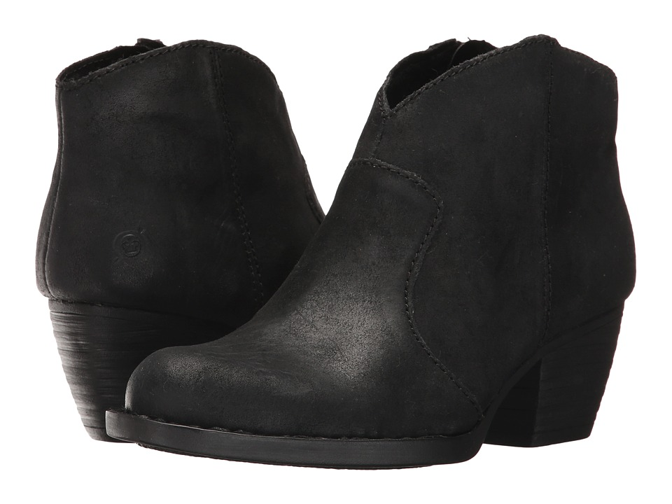 Born - Michel (Black Distressed) Womens Shoes