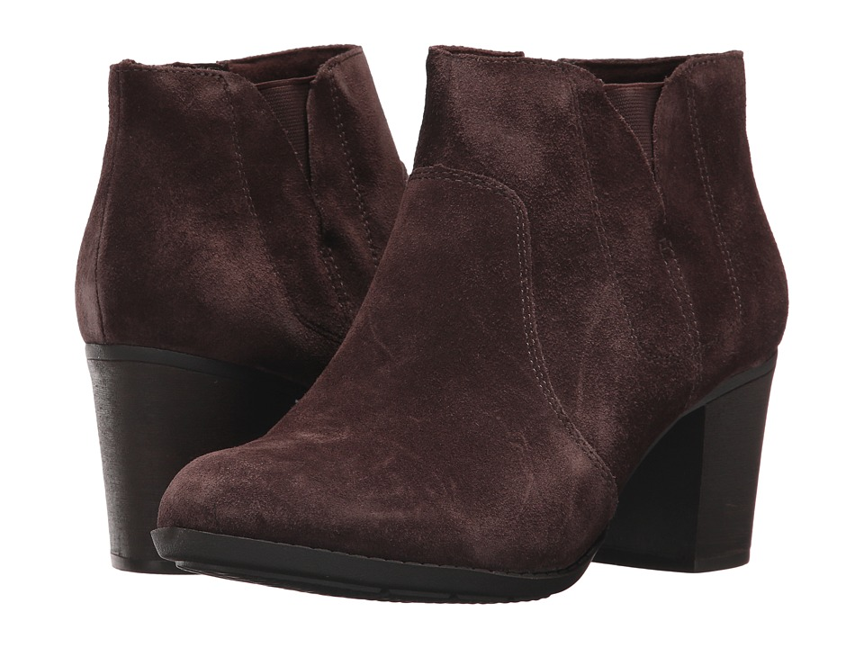 Clarks Enfield Senya (Dark Brown Suede) Women