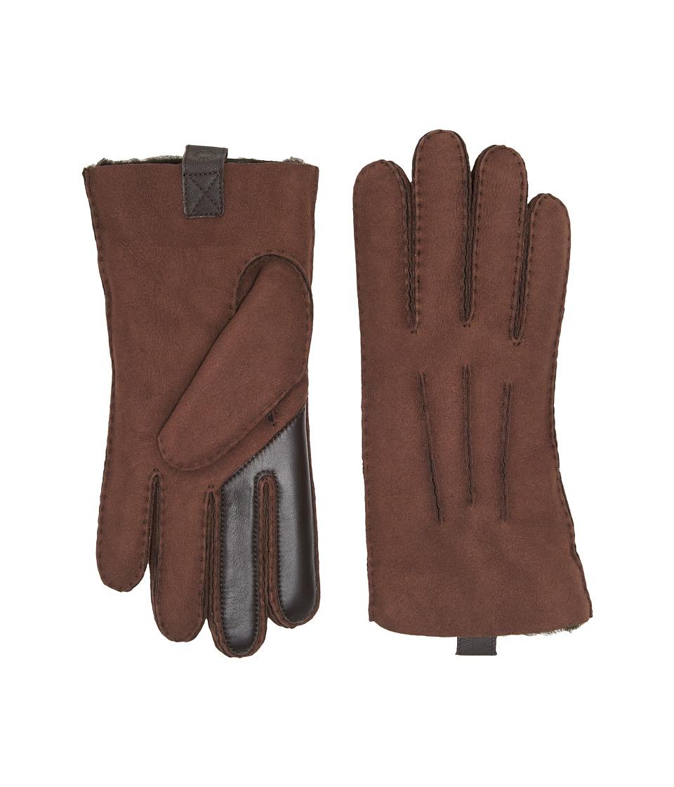 UGG Sheepskin Smart Gloves (Chocolate) Extreme Cold Weather Gloves