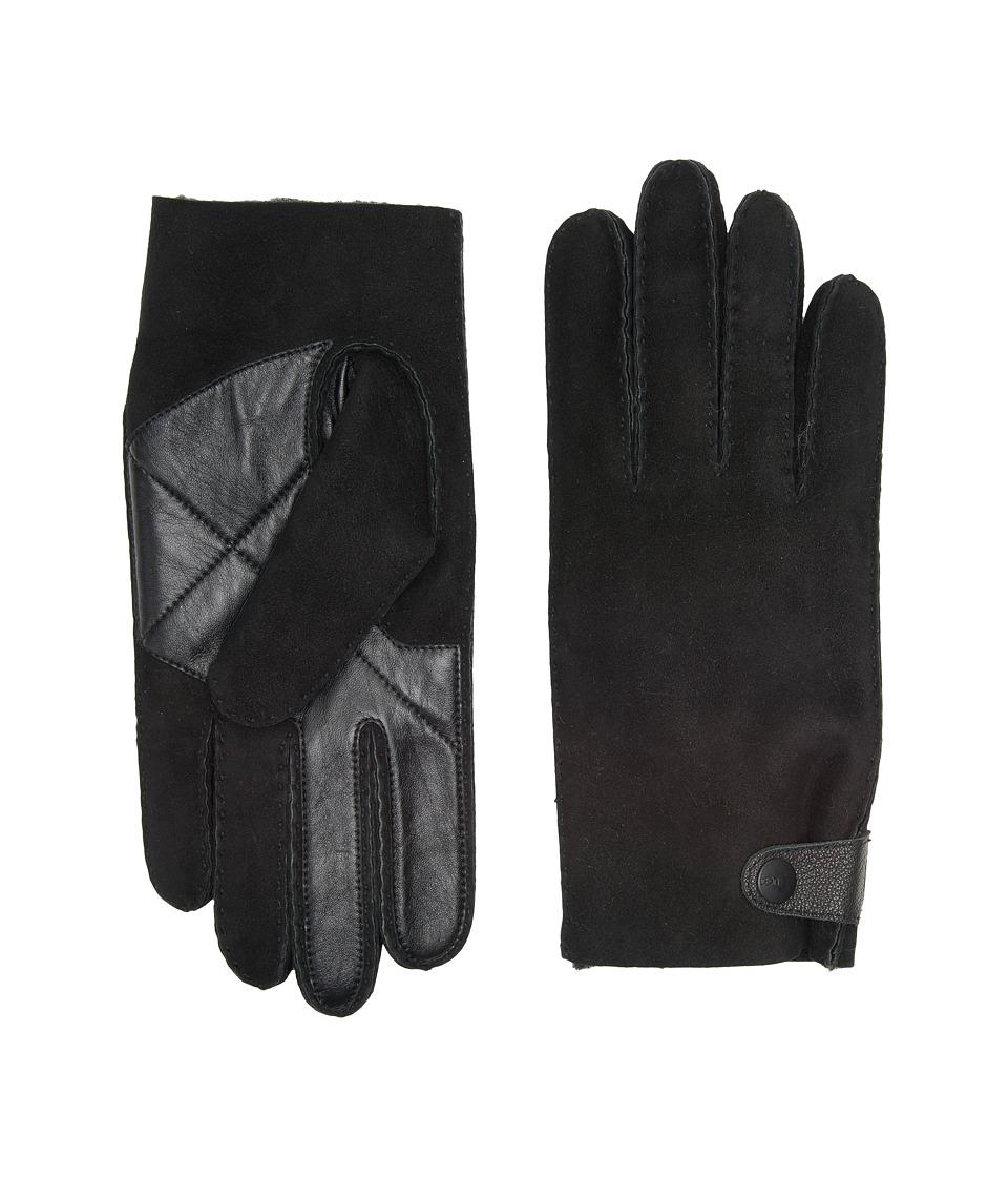 UGG Sheepskin Snap Tab Tech Gloves (Black) Extreme Cold Weather Gloves