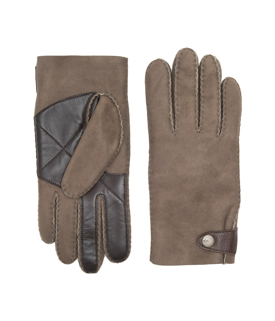 UGG Sheepskin Snap Tab Tech Gloves (Slate Curly) Extreme Cold Weather Gloves