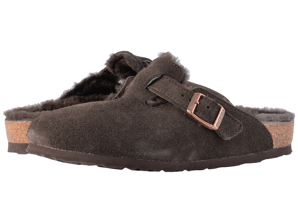 Birkenstock Boston Shearling (Mocha/Mocha Suede) Women