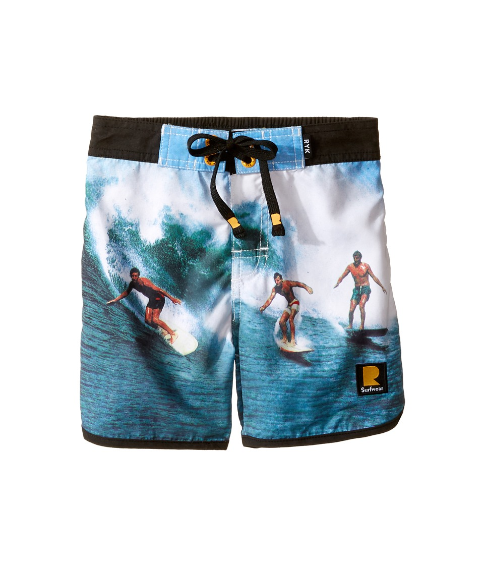 Rock Your Baby Surfin Safari Boardshorts (Toddler/Little Kids/Big Kids) (Blue) Boy