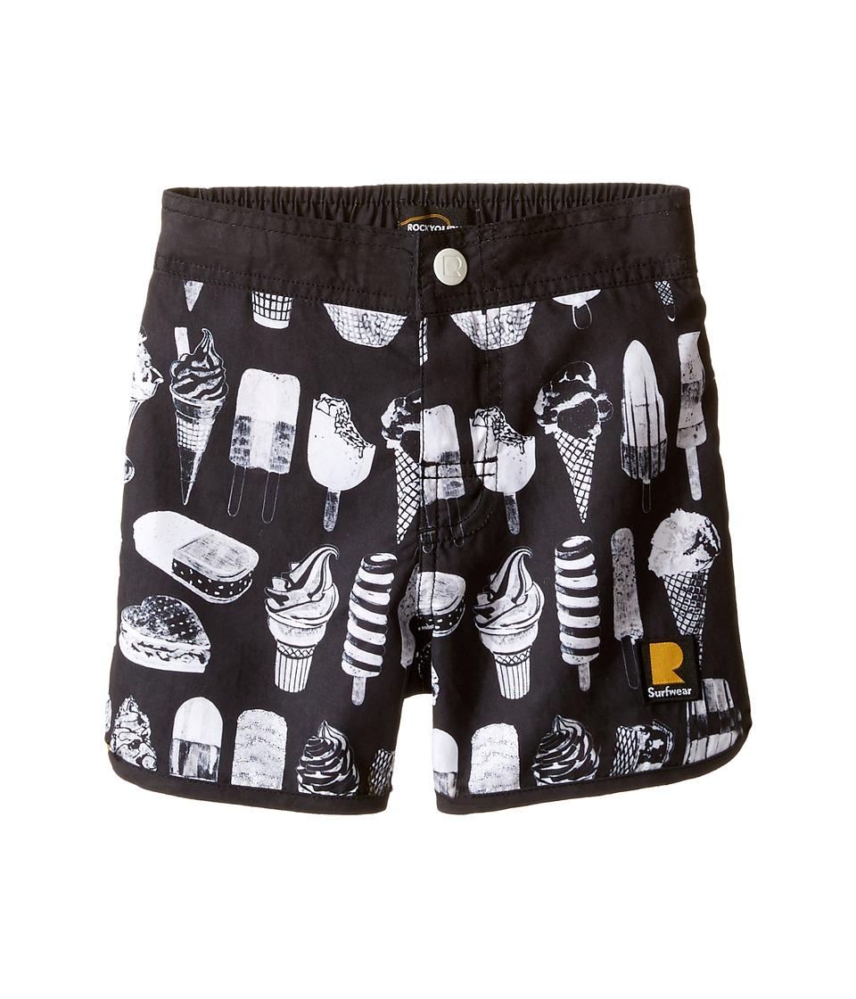 Rock Your Baby The Cool Kids Boardshorts (Toddler/Little Kids/Big Kids) (Black) Boy