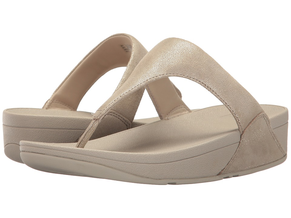 FitFlop - Shimmy Suede Toe Post (Pale Gold) Womens  Shoes