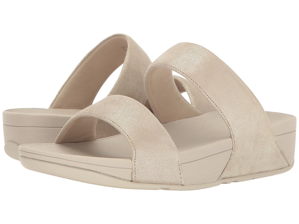 FitFlop Shimmy Suede Slide (Pale Gold) Women