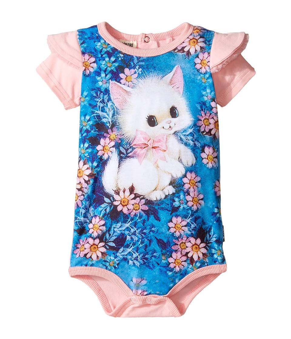 Rock Your Baby - Retro Kitten Short Sleeve Bodysuit