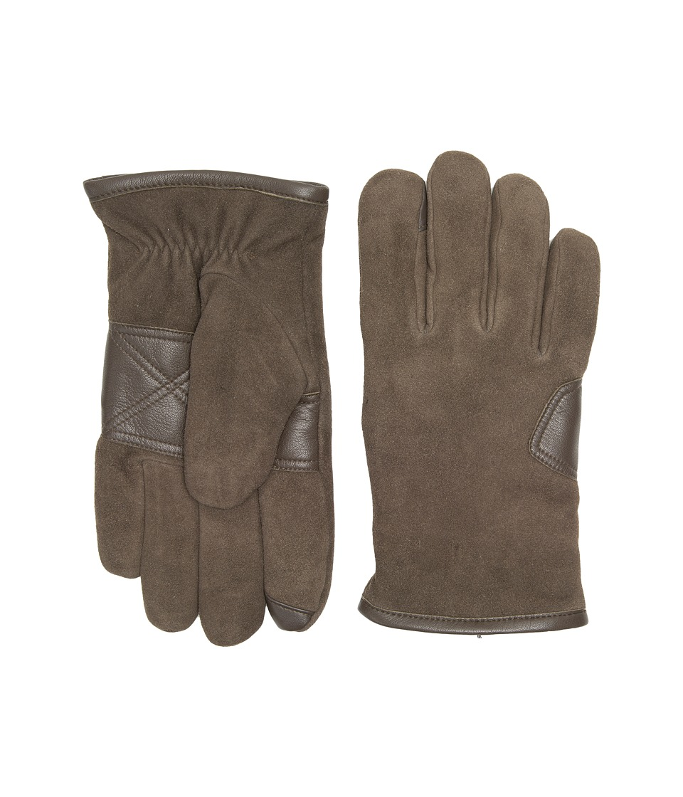 UGG Suede Smart Gloves/Debossed Logo Patch (Slate) Extreme Cold Weather Gloves