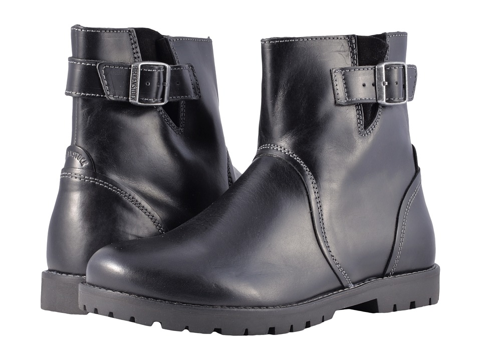 Vintage Style Boots, Retro Boots, Granny Boots, Fur Top Boots Birkenstock - Stowe Black Leather Womens Pull-on Boots $195.00 AT vintagedancer.com