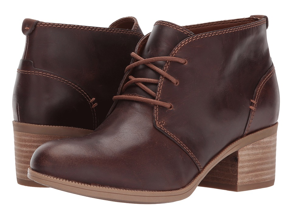Clarks Maypearl Flora (Dark Tan Leather) Women