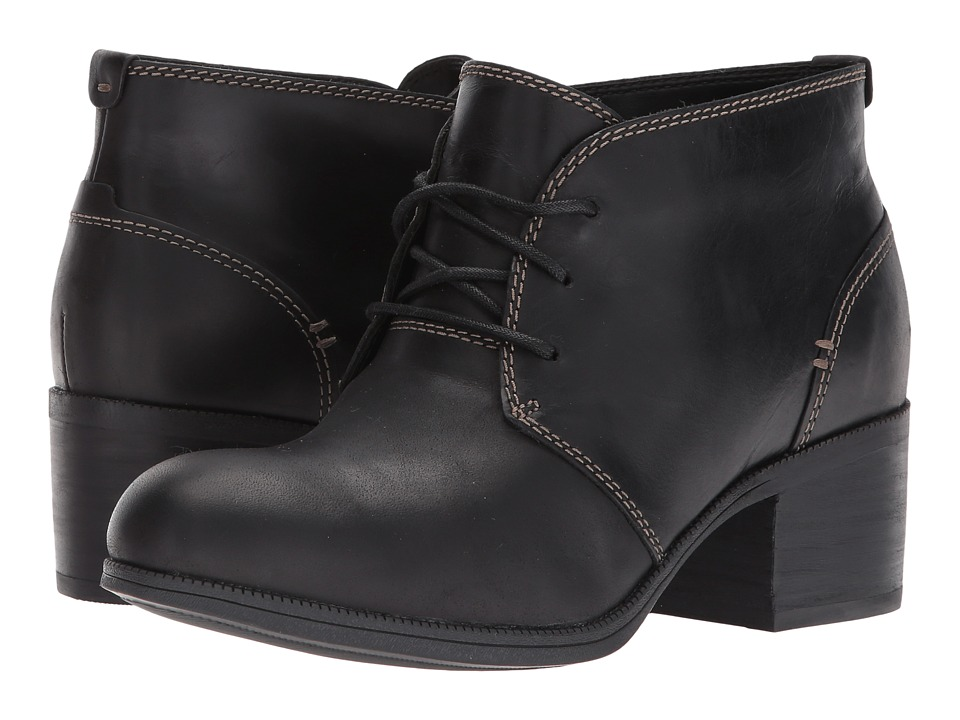 Clarks Maypearl Flora (Black Leather) Women