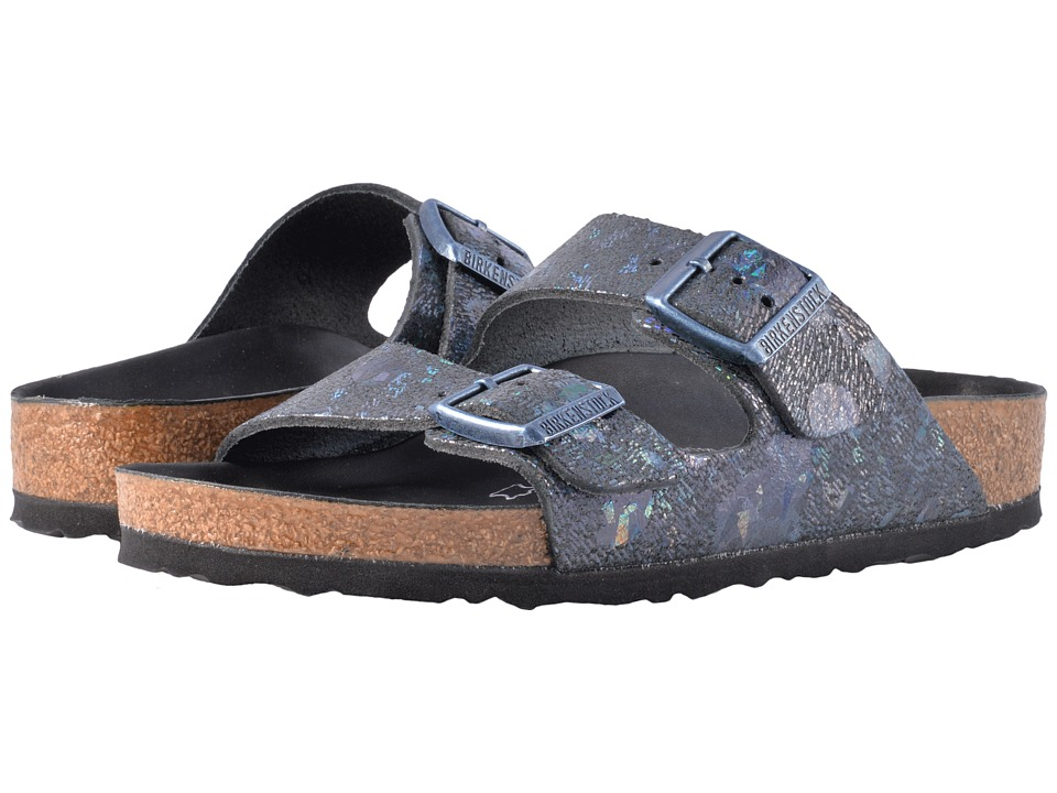 Birkenstock Arizona Lux (Spotted Metallic Black Leather) Women