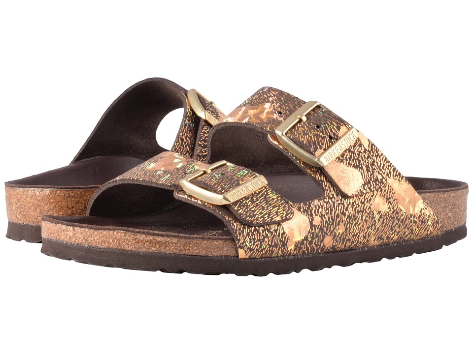 Birkenstock Arizona Lux (Spotted Metallic Brown Leather) Women